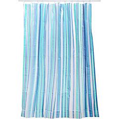 Cortina de baño Rayas azul PVC 178 x 180 cms