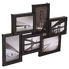 Marco de foto multi 6 negro