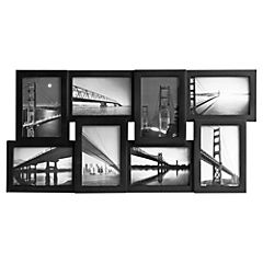 Marco de foto multi 8 negro