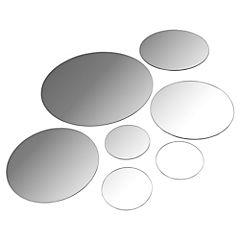 Set de espejos circulares 7 piezas