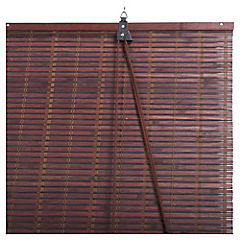 Cortina enrollable bambú 120x250 cm chocolate