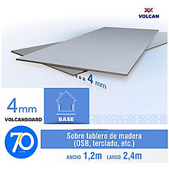 4 mm 120 x240 cm Placa lisa de Volcanboard