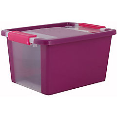 Caja organizadora 11 litros 36,5x26x19 cm fucsia