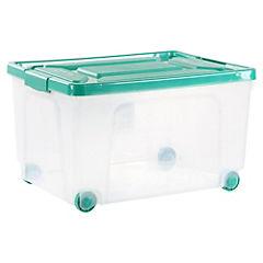 Caja organizadora 62 litros 41x55x22 cm verde