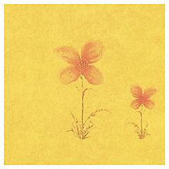 Papel mural Flor dorado variedad