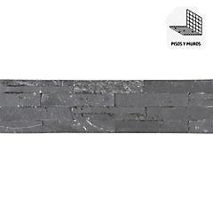 Piedra mosáico 60x15 cm 0,63 m2 Negro