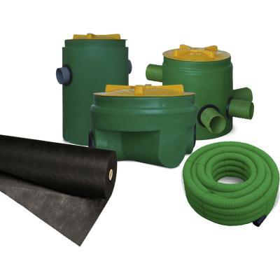 Kit completo para fosa polietileno 1200 l for Fosa septica sodimac