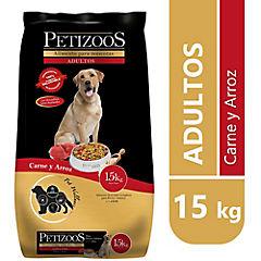 Alimento seco para perro adulto 15 kg carne y arroz