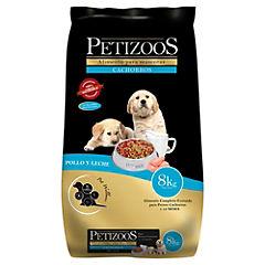 Alimento seco para cachorro 8 kg carne y leche
