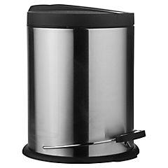 Papelero 5 litros tapa negra