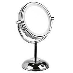 Espejo cosmético con luz 13 cm Cromado