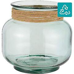 Florero 18 cm vidrio transparente