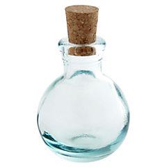 Botella Bolas Tapa Corcho Transparente