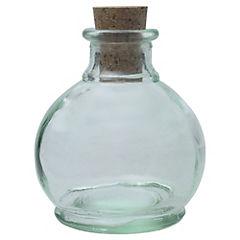 Botella Venecian Tapa Corcho Transparente
