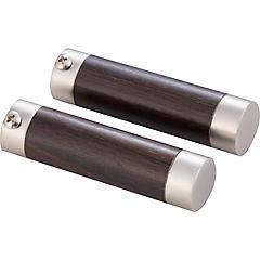 Terminal genova metal satinado 19mm, 2 unidades
