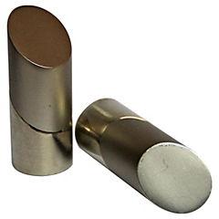 Set de terminales para barra de cortina 28 mm 2 unidades Satinado