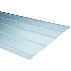 0,5mm x 0,90x2,00 m plancha traslucida  5V natural
