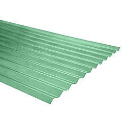 0,5mm x 0,85x2,50 m plancha traslucida Onda zinc verde