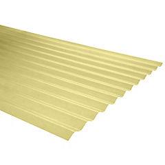 0,5mm x 0,85x2,50 m plancha traslucida Onda zinc amarillo