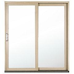 194 x 204 cm Kit ventana madera termopanel templado, corredera izquierda,