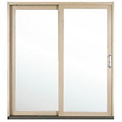 194 x 204 cm Kit ventana madera termopanel templado, corredera derecha,
