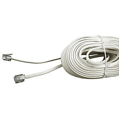 Cable telefónico plano marfil 15 mts.