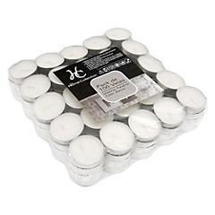 Set de velas tealight 100 unidades Blanco