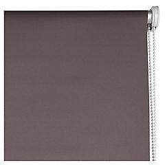 Cortina enrollable Black Out poliéster 120x165 cm café