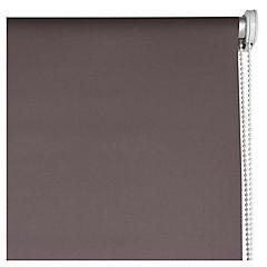 Cortina enrollable Black Out poliéster 160x165 cm café