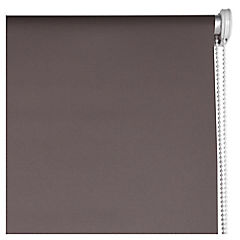 Cortina enrollable Black Out poliéster 150x250 cm café