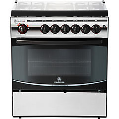 Cocina a gas 5 quemadores 84 litros plateado