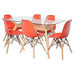 Juego de comedor Crystal 6 sillas