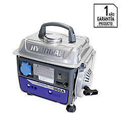 Generador eléctrico a gasolina 650 W 4,45 hr