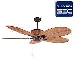 Ventilador techo ratán