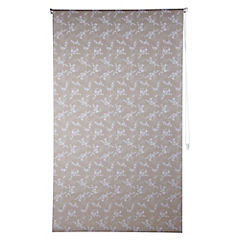 Cortina enrollable Flores beige 120 x 250 cms