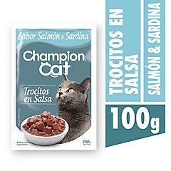 Alimento húmedo para gatos pouch salmon 100 gramos
