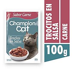 Alimento húmedo para gatos pouch carne 100 gramos