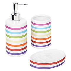 Set 3 piezas para baño de cerámica colores