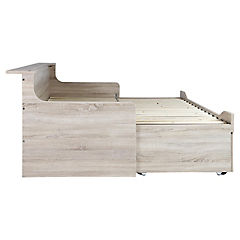 Cama Smart 1 plaza / 2 plazas 100 x 206 x 83 cm oak