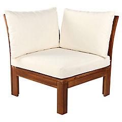 Combo Sillón esquinero Acacia + Cojín asiento + 2 Cojín respaldo