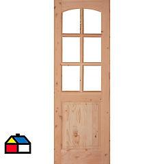 Puerta trancura con vidrio de 70x200 cm