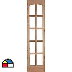 Mampara pino oregón con vidrio 50x200 cm