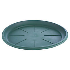 Base macetero plastico, 14 cm color Verde