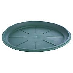 Base para macetero de plástico 14 cm Verde