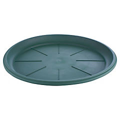 Base macetero plastico, 24 cm color Verde