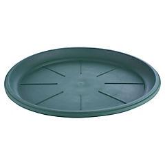 Base macetero plastico, 33 cm color Verde