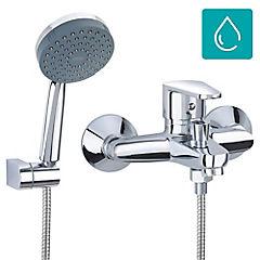 Monomando para tina y ducha Plateado