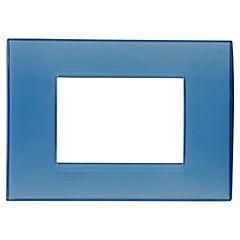 Placa  RECT 3 módulos  azul
