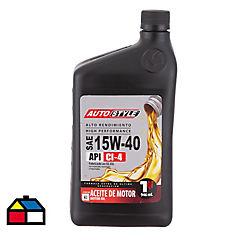 Lubricante 15W40 CI4 Mineral 1/4 galón