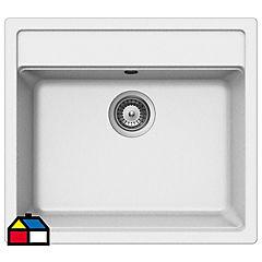 Lavaplatos 30,5x51x76,5 cm granito Blanco